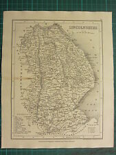 c1835 ANTIQUE COUNTY MAP ~ LINCOLNSHIRE ~ LINCOLN RAILROADS TATTERSHALL WOODS