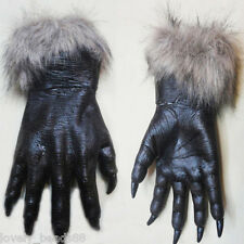 Creepy Halloween Wolf Paws Claws Cosplay Gloves Creepy Costume Theater Toys