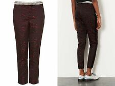 TOPSHOP LADIES JACQUARD TAILORED CIGARETTE TROUSERS SIZE 6 £45 FREE P&P (MS)