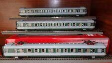 ALe 601 Set 3 elementi, livrea verde/grigio con riga rossa, finestrini frontali