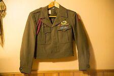 Original WW2 82nd Airborne Paratrooper Eisenhower Uniform Jacket W/ Insignia