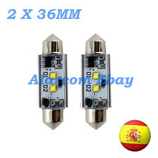 2 x BOMBILLAS led 36 mm C5W Festoon LED CREE 14W Canbus No Error #1025