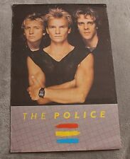 Police 1983 Sting Andy Summers Campus Craft Roxanne Music Poster #113 VG C6