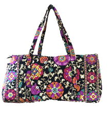 Vera Bradley Large Duffel in Suzani with Solid Black Interior - NWT