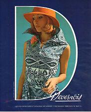 PUBLICITE ADVERTISING 015  1975  DEVERNOIS   pret à porter