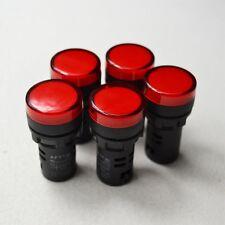 5pcs TOP 12V 22mm Red LED Indicator Pilot Signal Light Lamp