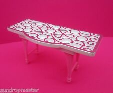 BARBIE DOLL HOUSE FURNITURE TABLE BREAKFAST IN BED SERVING TRAY KITCHEN DIORAMA