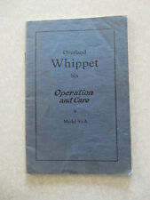 Original 1927 Overland Whippet six cylinder owner's manual - Model 93-A
