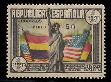 Spain 1938 Airmail opt 5p on 1p multi surch (Sc C97) MNH $500 +signed