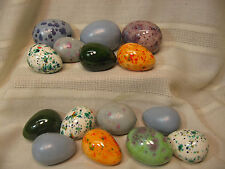 15 HAND CAST AND FINISHED DECORATIVE EASTER EGGS