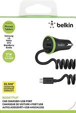 New Belkin 17W 3.4A Boost ↑ Up Car Charger + USB Port