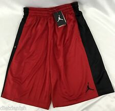 Nike Air Jordan MEN'S Athletic Basketball Loose Shorts Red Black 657722 Size S