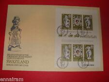 Queen Elizabeth II Silver Jubilee FDC 25 Coronation Swaziland 1978 #2