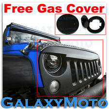 07-15 Jeep JK Wrangler Matte Black Angry Bird Replacement Grille Shell+Gas Cover