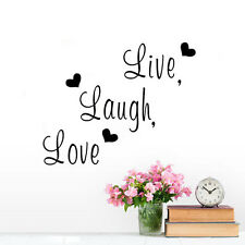 Quote Wall Sticker Live Laugh Love Home Living Room Vinyl Wall Decal Removable