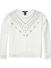 MAISON SCOTCH WHITE COTTON EMBELLISHED CUT OUT SWEATER1,2,3 10,12,14 £109