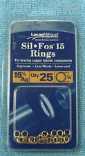 """Sil Fos 15 Silver Rings - 15% Ag - Qty. 25 - 1/4"""" - Lucas Milhaupt  Part #98700"""