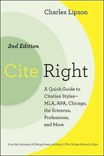 Cite Right : A Quick Guide to Citation Styles - MLA, APA, Chicago, the...