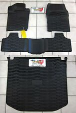 2011 2012 Jeep Grand Cherokee Rubber Slush Floor Mats & Cargo Tray Liner Set
