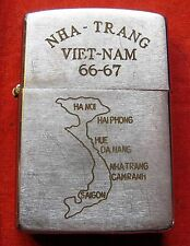 1966 VIETNAM WAR VINTAGE ZIPPO LIGHTER US ARMY ENGINEER CORPS NHA-TRANG
