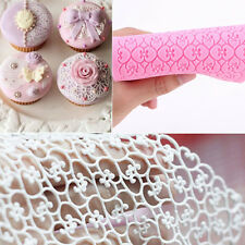 Lace Silicone Mold Sugar Craft Fondant Embosser Mat Cake Baking Decoration Tool