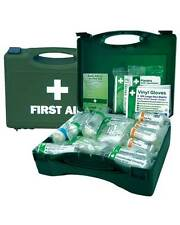 1 - 10 FIRST AID BOX HSE APPROVED, PARAMEDIC, FIRST AID, CAMPING, OFFICE, WORK,
