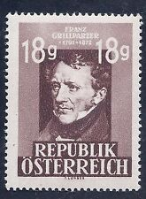 Austria 1947 Franz Grillparzer 18g Stamp MNH