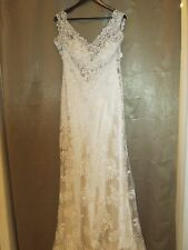 Maggie Sottero Wedding Dress -  Lark - Size 10 - Ivory/Lt. Gold - NO belt
