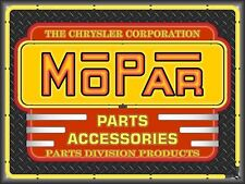 MOPAR PARTS ACCESSORIES NEW DESIGN NEON STYLE BANNER SIGN GARAGE ART 4' X 3'
