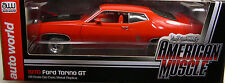 AUTO WORLD 1:18 SCALE DIECAST METAL MODEL MEDIUM RED 1970 FORD TORINO GT