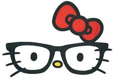 "Hello Kitty Nerd / Glasses Iron On Transfer 4.75"" x 7"" for LIGHT Fabric"