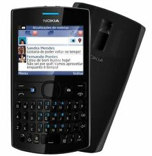 Nokia Asha 205 Full Black Schwarz Single Sim QWERTY Tastatur Ohne Simlock NEU