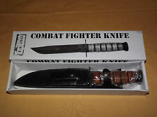 USMC UNITED STATES MARINE CORP US 1942 REPLICA COMBAT FIGHTER KNIFE & SHEATH NEW