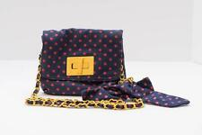Forever 21 crossbody bag...navy blue with pink polka dots....trendy