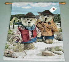 Boyds Bears Western Cowboys ~ On The Range Tapestry Wall Hanging