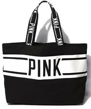 New Victoria's Secret PINK Canvas Large Tote Bag Yoga Beach Holiday Gym Travel