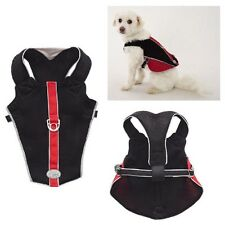 REFLECTIVE BREATHABLE MESH HARNESS for DOGS - Red & Black xxSmall - CLOSEOUT !