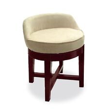 Dressing Table Chair Svivel Vanity Stool Low Seat Wood Bed Room Bath Wooden Chic