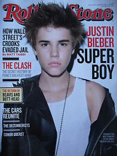 JUSTIN BIEBER March 2011 Rolling Stone  THE CLASH  THE CARS  CONOR OBERST