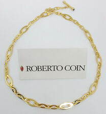 """Roberto Coin 18k Solid Yellow Gold Toggle Oval Link Necklace 24 Grams 18"""""""