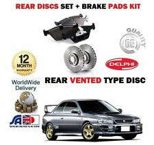 FOR SUBARU IMPREZA 2.0i TURBO STi 1993-1998 REAR BRAKE DISCS SET+ DISC PADS