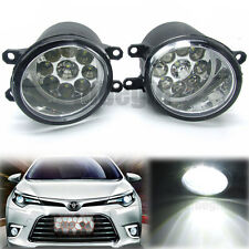 Pair 9 LED Front Fog Light Driving Lamp For Toyota Corolla Camry Yaris Lexus