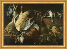 Still Life with Games and Vegetables Jan Fyt Jagen Beute Hase Vögel B A3 02428