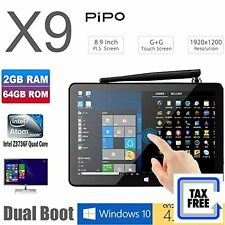 "PIPO X9 64GB Mini Computer 8.9"" 1920x1200 PC TV Box Desktop Intel Z3736F Quad"