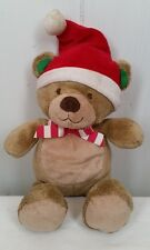 Just One You Carters Santa hat Christmas Bear red bow plush stuffed lovey