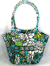 Vera Bradley Island Blooms Sweetheart Shoulder Bag Purse Tote Turquoise New