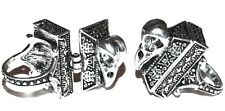 Gothic/Wiccan/Vampire Silver Coffin Raven/Crow Skull Locket Ring Size UK M 1/2