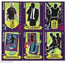 2016 / 2017 EPL Match Attax (T1 - T6) FULL SET of 6 Tactic Cards