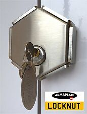 Armaplate LockNut Van Rear Twin Barn Door Security Padlock Hasp Lock Heavy Duty