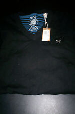 NWT $100 DIESEL TRICOT&CO. MENS V NECK SWEATER BLACK LARGE